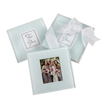Amazon.com: Forever Photo Frosted Glass Coasters: Home & Kitchen