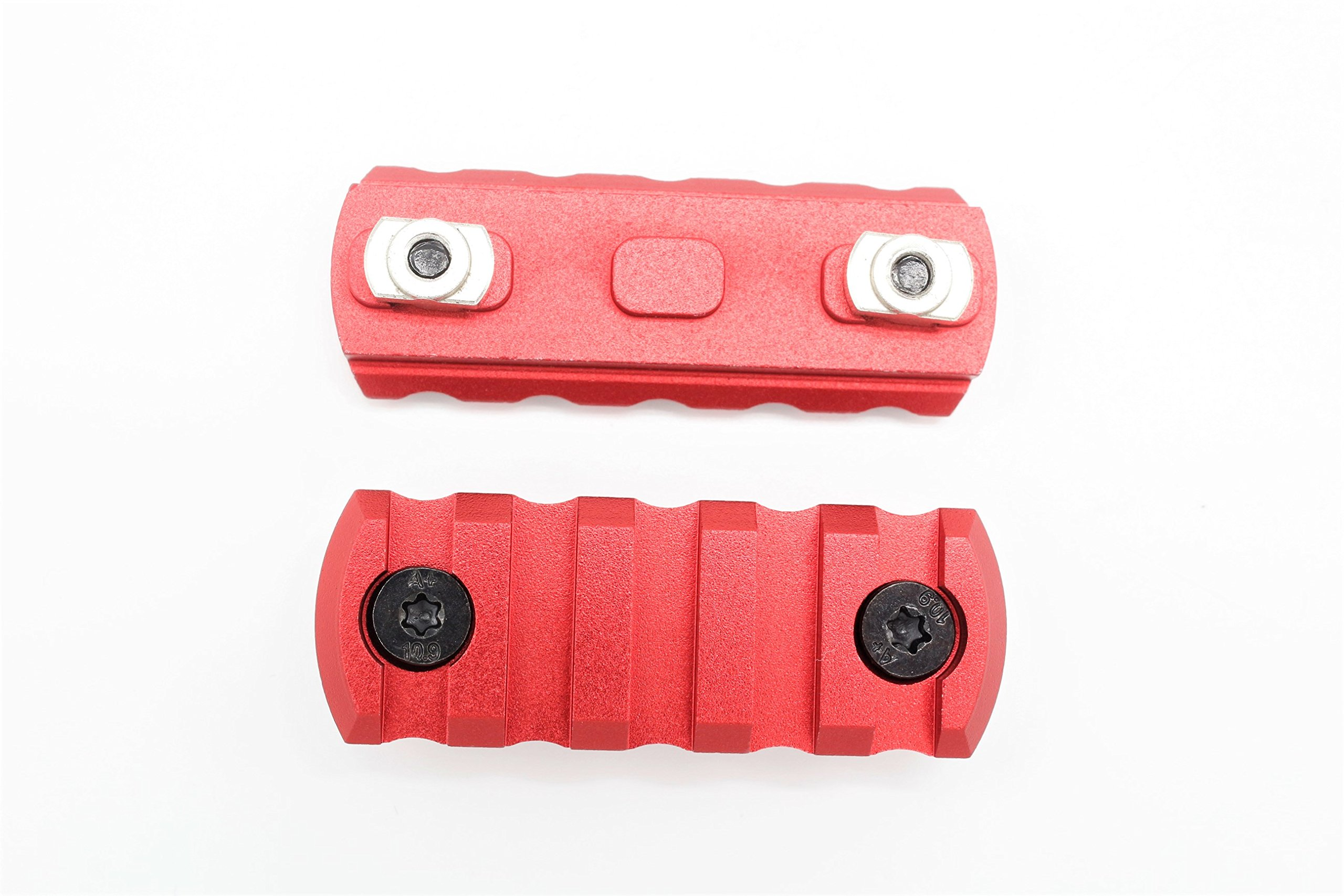 5 Slots M-lok Picatinny/Weaver Rail Sections Red Anodized for M-lok Handguard System by Active-8