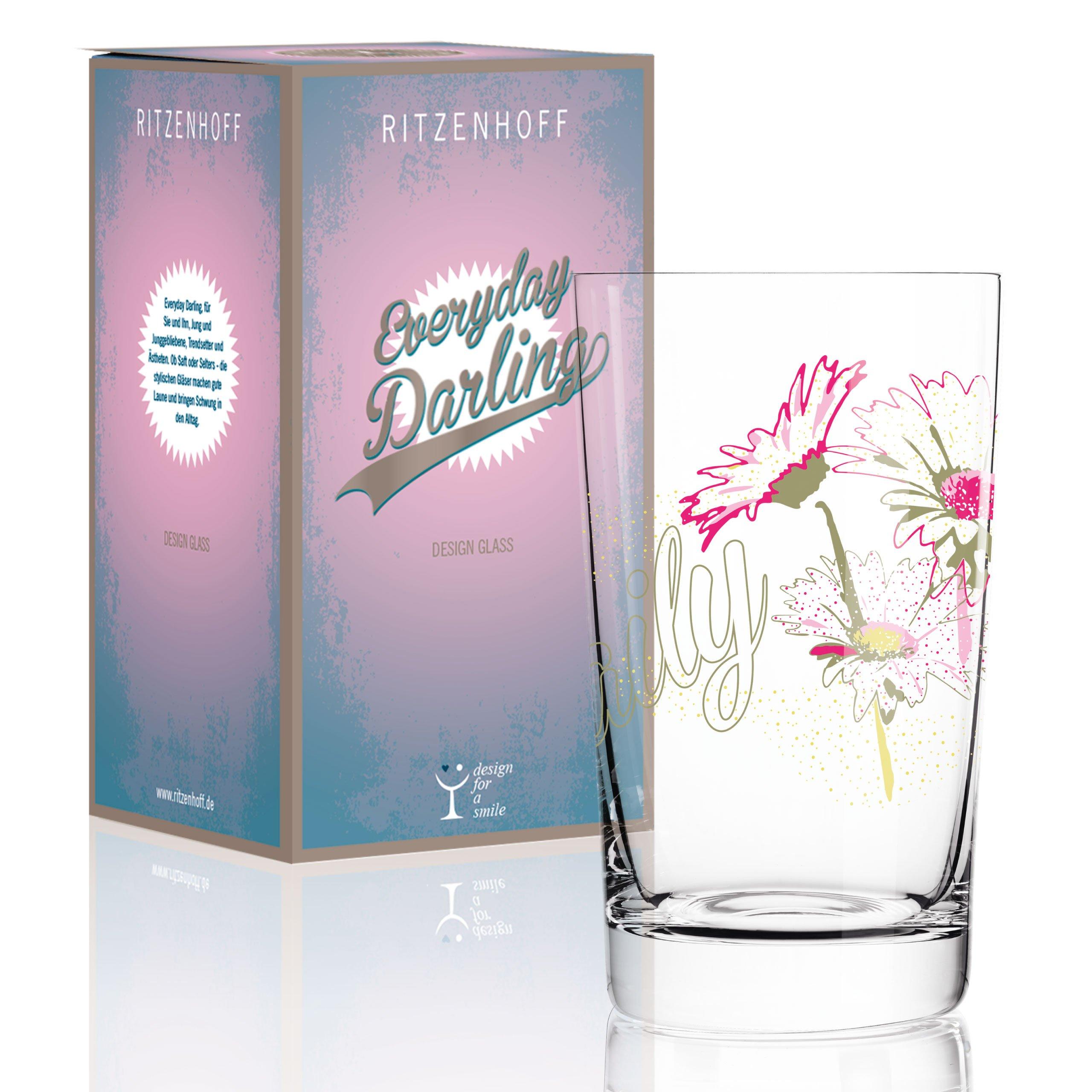 Ritzenhoff 3270012Everyday Darling Softdrinkglas, 7.3x 7.3x 5cm Multicoloured
