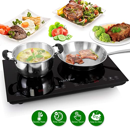 Upgraded Tech Single Digital Portable Countertop stove Burner PKSTIND24 120V NutriChef Electric Induction CookTop Made For Magnetic /& Cast Iron Pots Kids Safety Lock