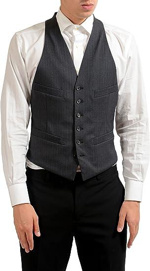 Harvey Mens V-Neck Tailored Fit 4 Button Dress Casual Vest Waistcoat