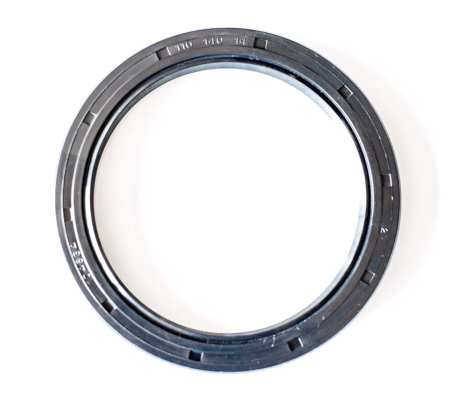 4.331x5.512x0.551 110mmX140mmX14mm Oil Seal 110X140X14 Oil Seal Grease Seal TC |EAI Double Lip w//Garter Spring Single Metal Case w//Nitrile Rubber Coating