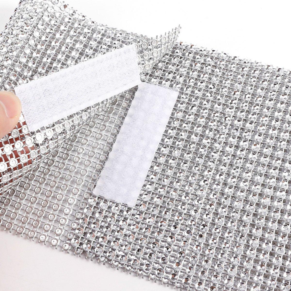 Anladia Home Decorative Holdback Diamante Window Curtain Clip Silver Sparkling Tie Backs 2pcs 12cmx40cm