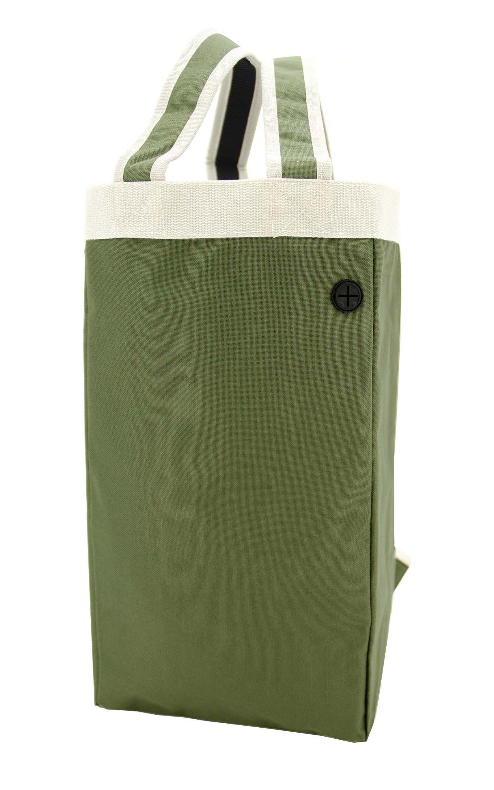 Crossover Tote&Backpack/ Shoulder Tote Bag/ Multifunction Backpack, Froest Green