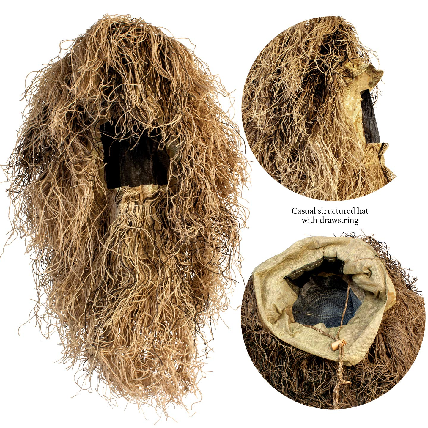 9005381 Red Rock Gear Ghillie Suit 5Piece Desert X-Large/2X-Large by Red Rock Outdoor Gear (Image #4)
