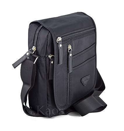 disponibilità nel Regno Unito f317d 723b7 Ormi By G.Kaos - Borsa Borsello Uomo Tracolla Regolabile Nylon Nero -  Multitasche (713 Black)