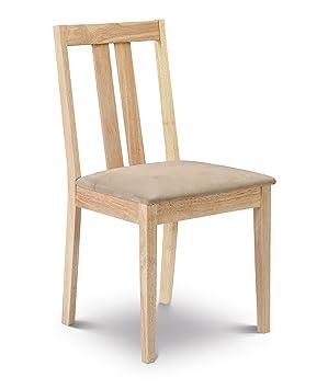 Attrayant Julian Bowen Rufford Dining Chairs, Light Wood, Set Of 2