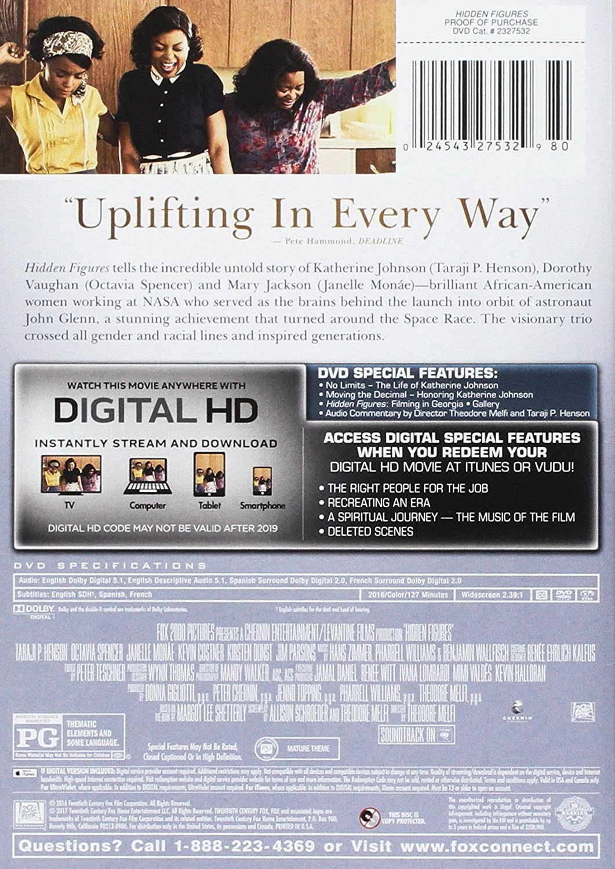 Amazon Com Hidden Figures Dvd Movies Tv