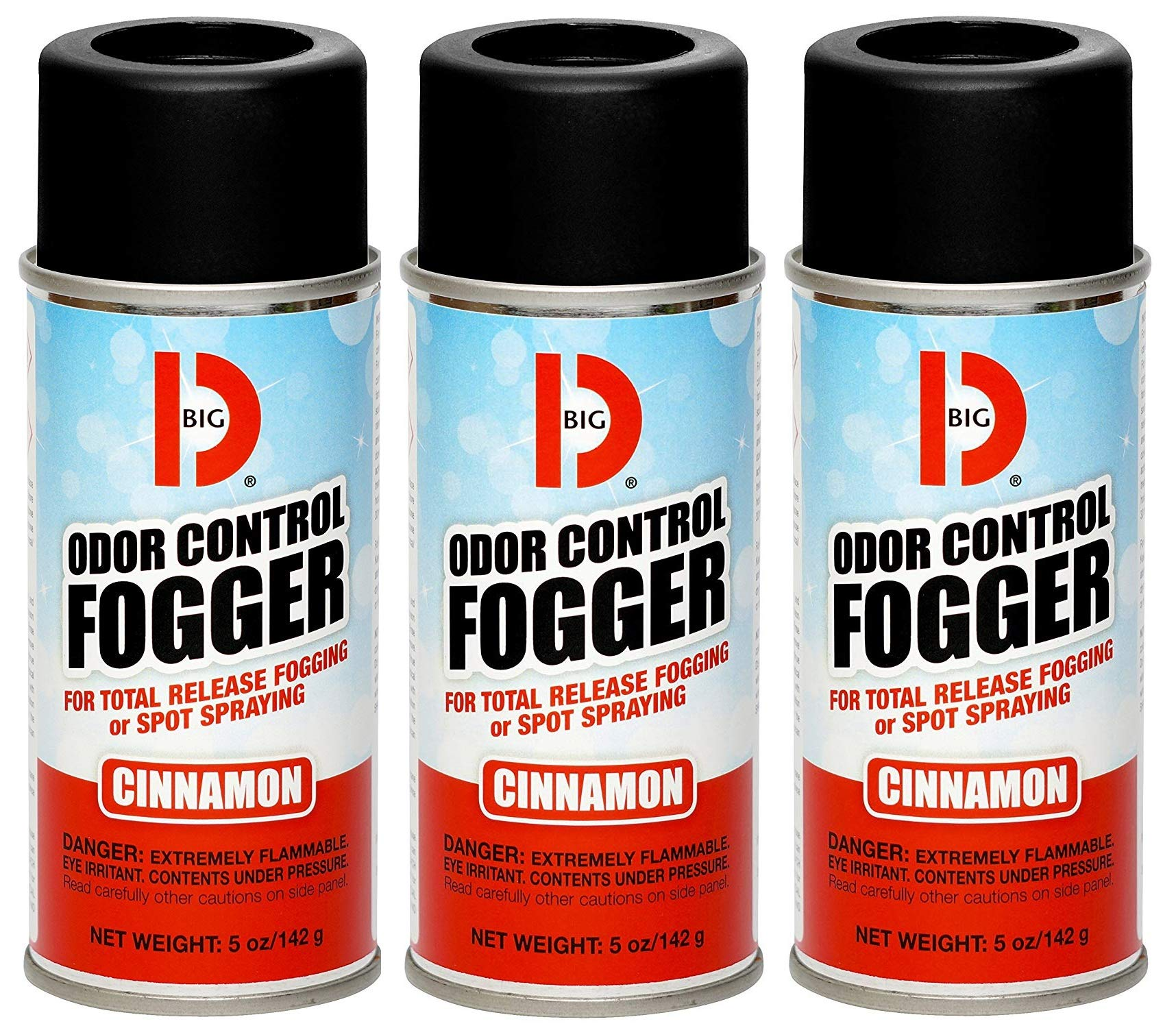Big D 342 Odor Control Fogger, Cinnamon Fragrance, 5 oz (Pack of 12) - Kills Odors from fire, Flood, Decomposition, Skunk, Cigarettes, Musty Smells - Ideal for use in Cars (Вundlе оf Fіvе) by Big D (Image #1)