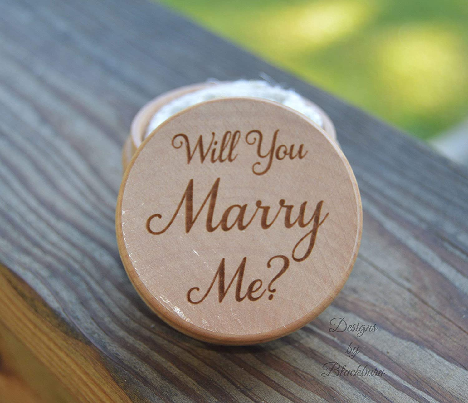 Will You Marry Me Proposal Ring Box - Keepsake Gift
