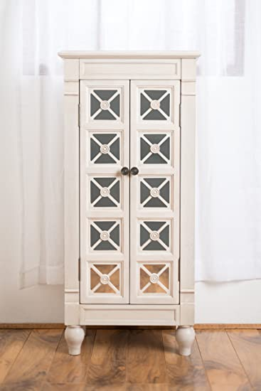 Hives And Honey U0026quot;Celeneu0026quot; Jewelry Armoire, Century White