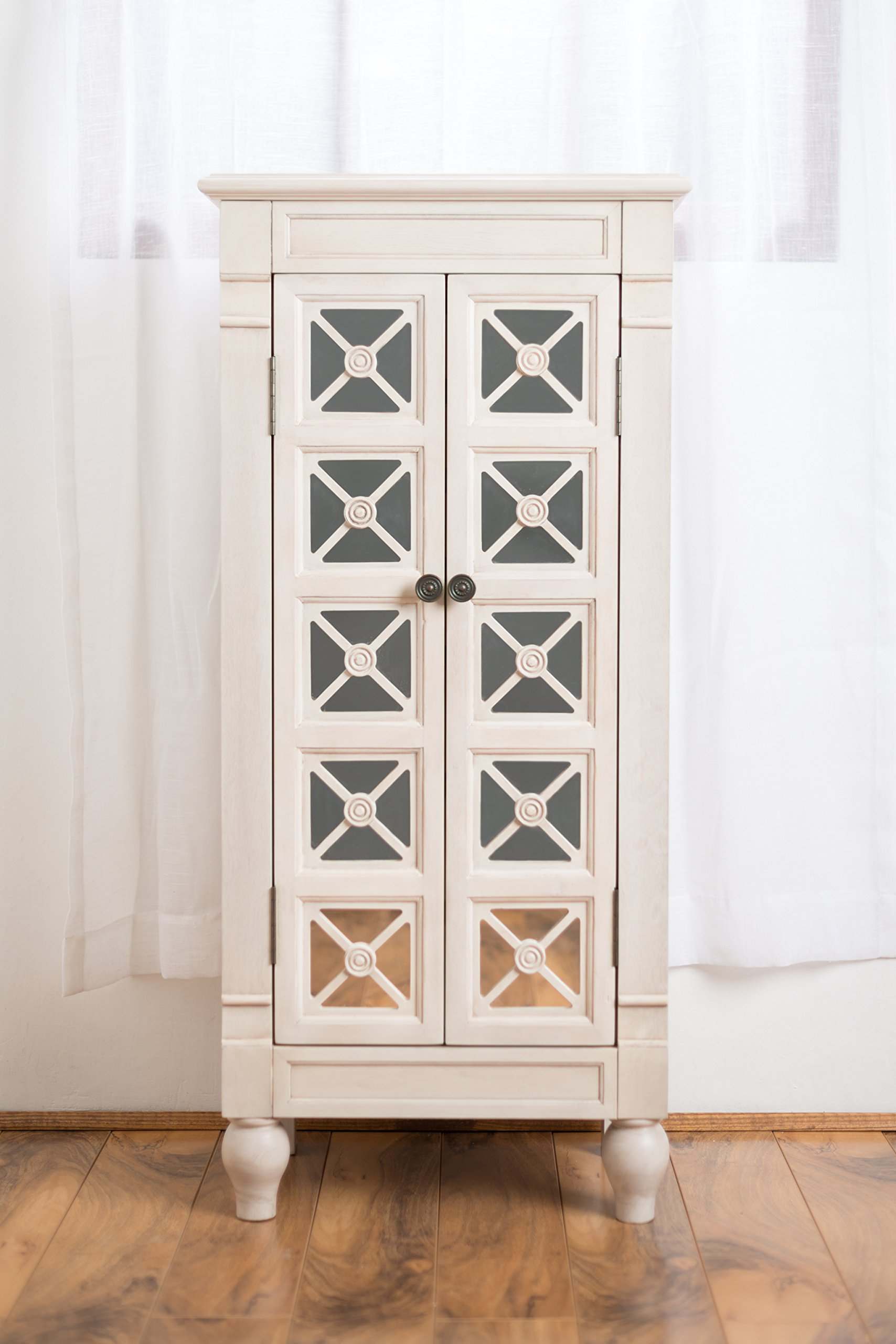 Hives and Honey ''Celene'' Jewelry Armoire, Century White by Hives and Honey (Image #1)