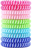 Mosquito Repellent Bracelets (10 Pack) More Portable than Citronella Candles or Mosquito Coils, Spiral Bug & Insect Repellent Bands, Perfect for Backyard, Camping, Hiking, BBQs, Outdoors, Swimming