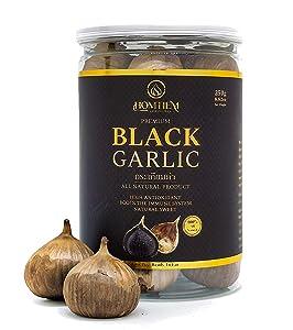 Homtiem Black Garlic 8.82 Oz (250g.), Whole Black Garlic Fermented for 90 Days, Non-GMOs, Non-Additives, High in Antioxidants, Ready to Eat for Snack Healthy, Healthy Recipes