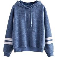 SweatyRocks Womens Long Sleeve Colorblock Pullover Sweatshirt Fleece Hoodie