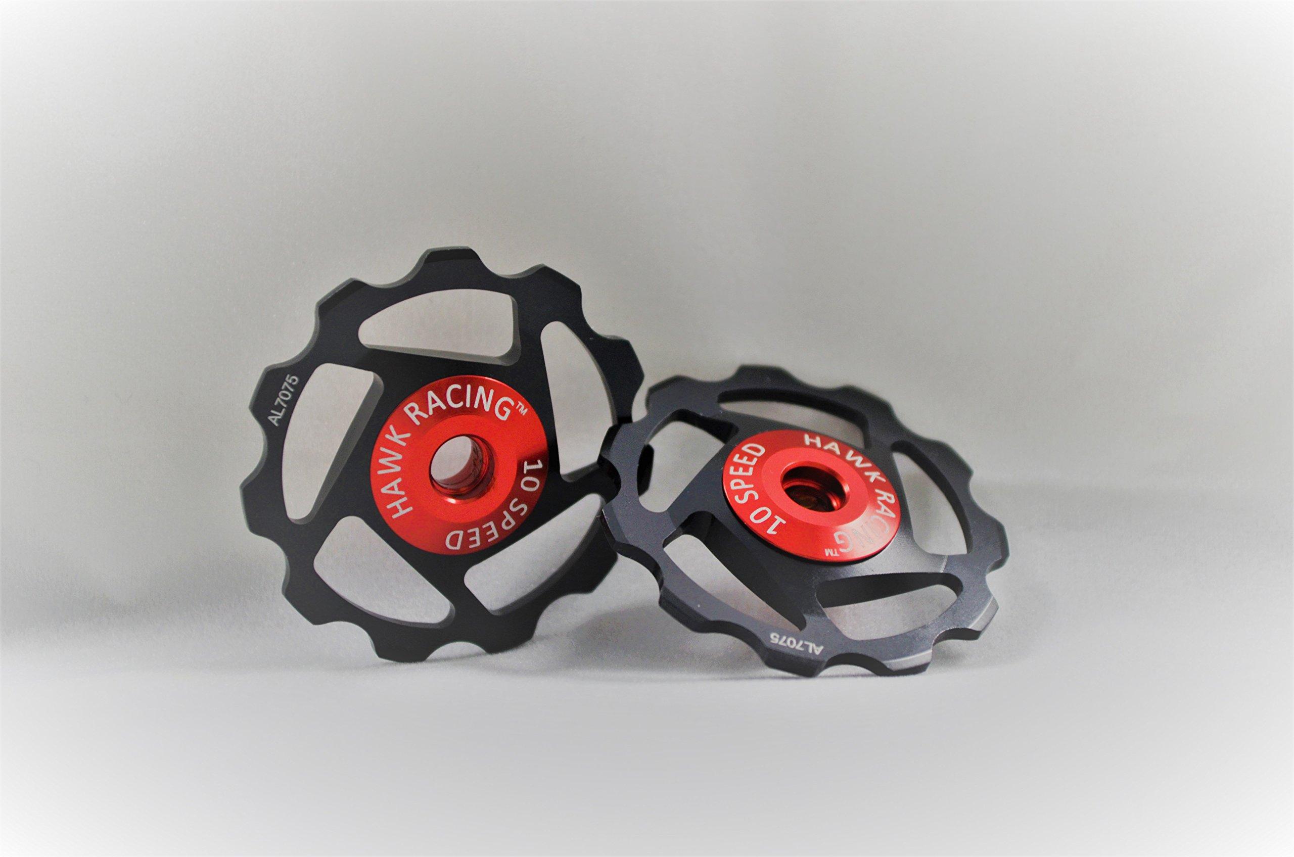 Hawk Racing Derailleur Pulley, 10 speed, Red, SRAM