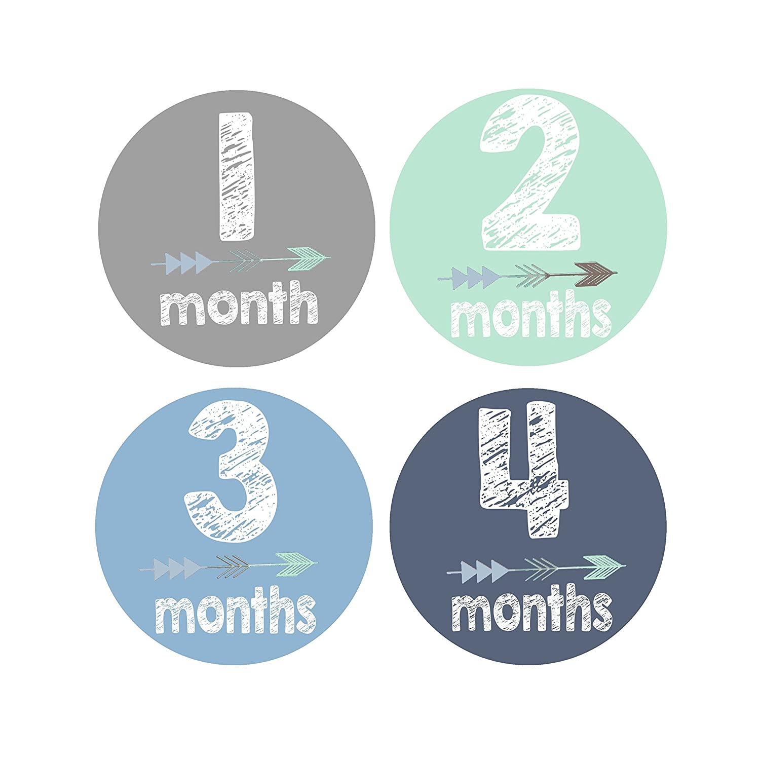 Monthly Baby Stickers - Baby Boy Month Stickers - Milestone Photo Prop