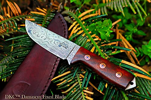 Sale 33 5 18 DKC-73 Survival 1 Damascus Hunting Knife 8 Long 4 Blade 5.4 oz Walnut Handle