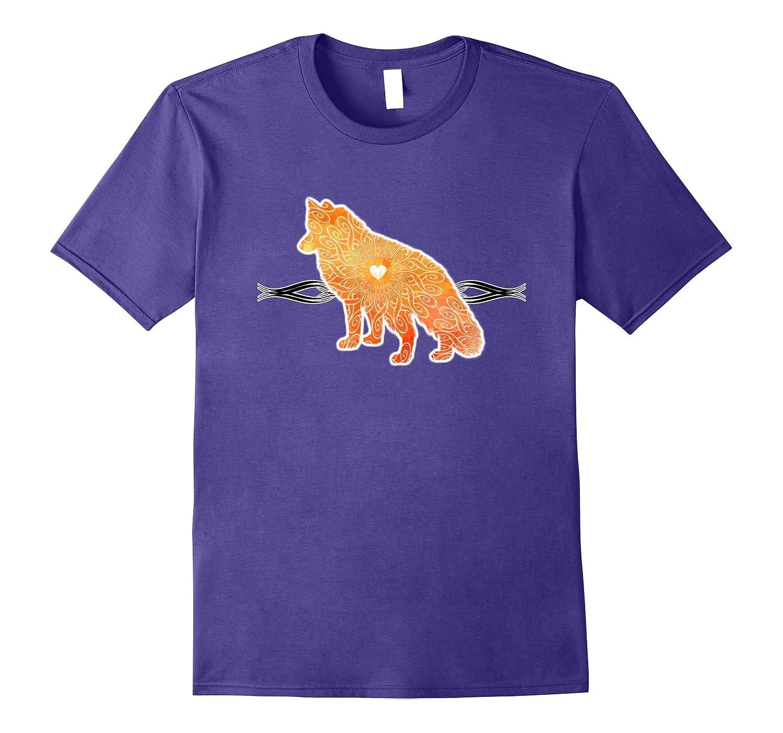 Beautiful Fox T-shirt Orange Watercolor Fox Icon Gift Tee-Vaci