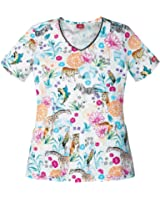 Dickies EDS A Little Wild Print Scrub Top