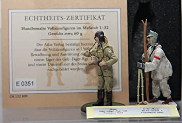 Atlas- German Soldier World War II / 2 #117- 2 Figures: Jäger  Beb -Jäger-Regiment 139 Finnland 1941 + Unteroffizier Stuka-Geschwader 1 ,  France 1940
