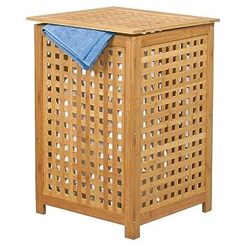 Wäschekorb Holz msv wäschetruhe wäschekorb holz bambus 40x40x58cm als wäschesammler