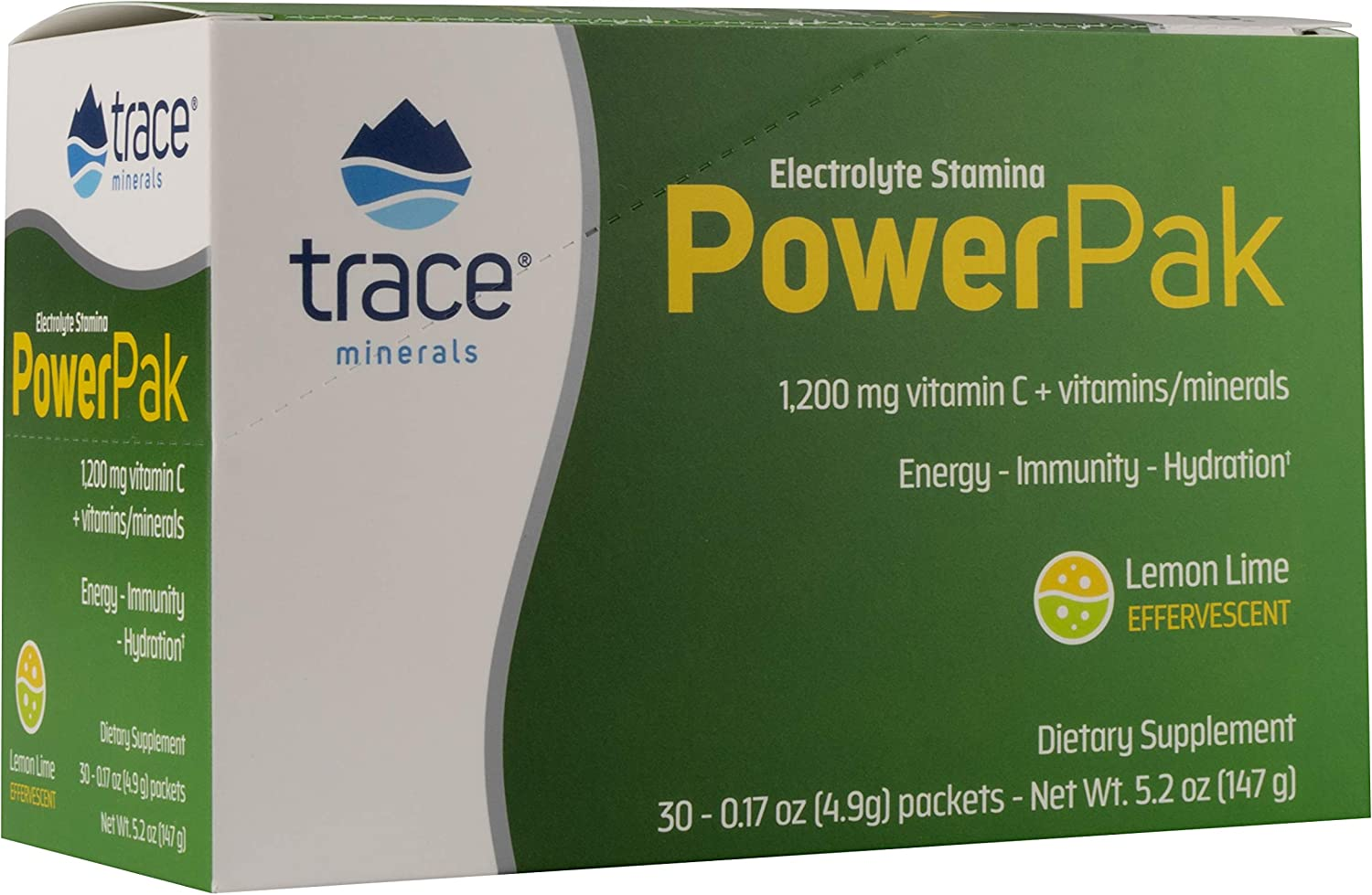 Trace Minerals Electrolyte Stamina Power Pak Non-GMO, Lemon Lime,0.17 Ounce (30 Count): Health & Personal Care