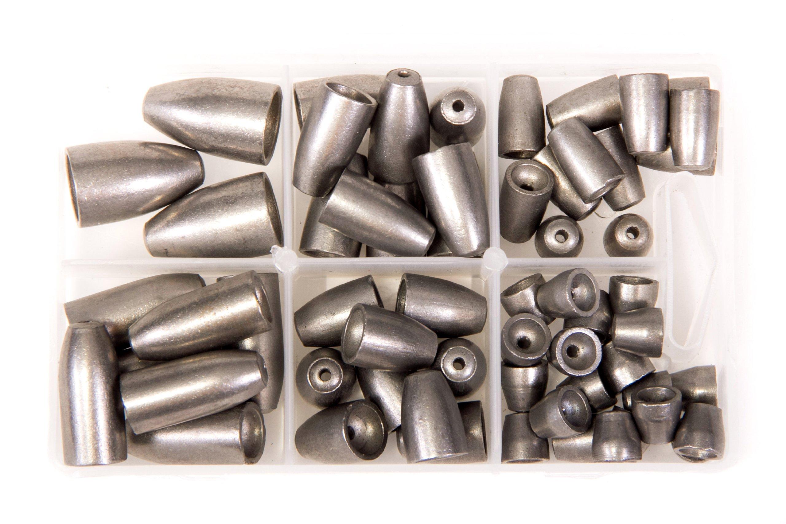 Bullet Weights Ultra Steel Sinker Kit (Natural, 60 Piece Kit)