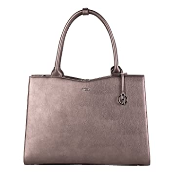19d1d988f8307 SOCHA Damen Notebooktasche-Laptoptasche 15 6 Zoll metallic grau elegante  Businesstasche extra leicht robust Designertasche