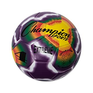 Champion Sports Extreme Tie Dye Composite Soccer Ball Size 3 4 5 Available New