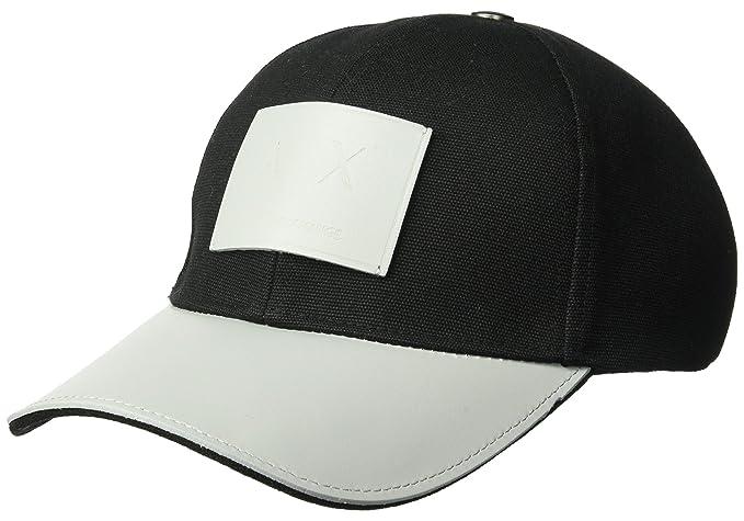 72e303219a0 Amazon.com  Armani Exchange Men s Logo Patch Hat