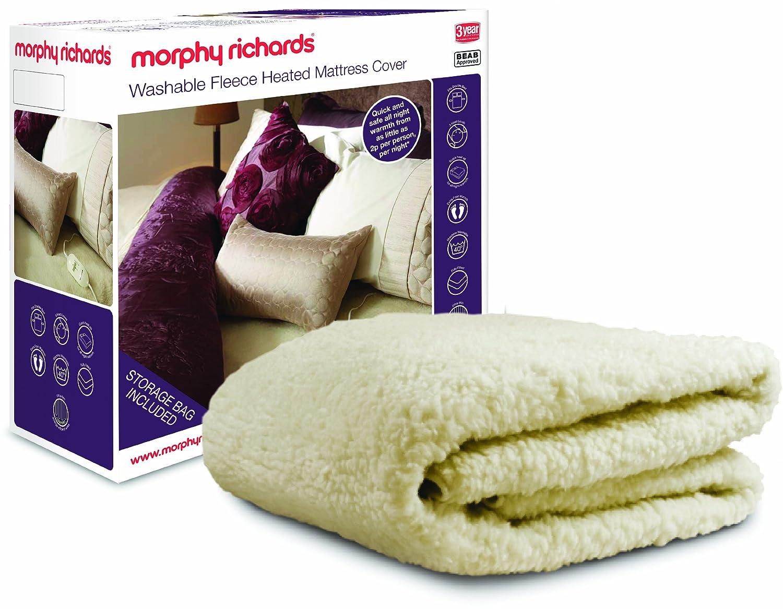 Morphy Richards 75287 Fleece Washable Heated Mattress Cover Dual Controls -  Double: Amazon.co.uk: Kitchen & Home
