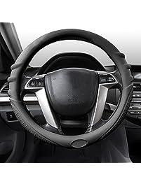 FH Group FH3003BLACK Black Steering Wheel Cover
