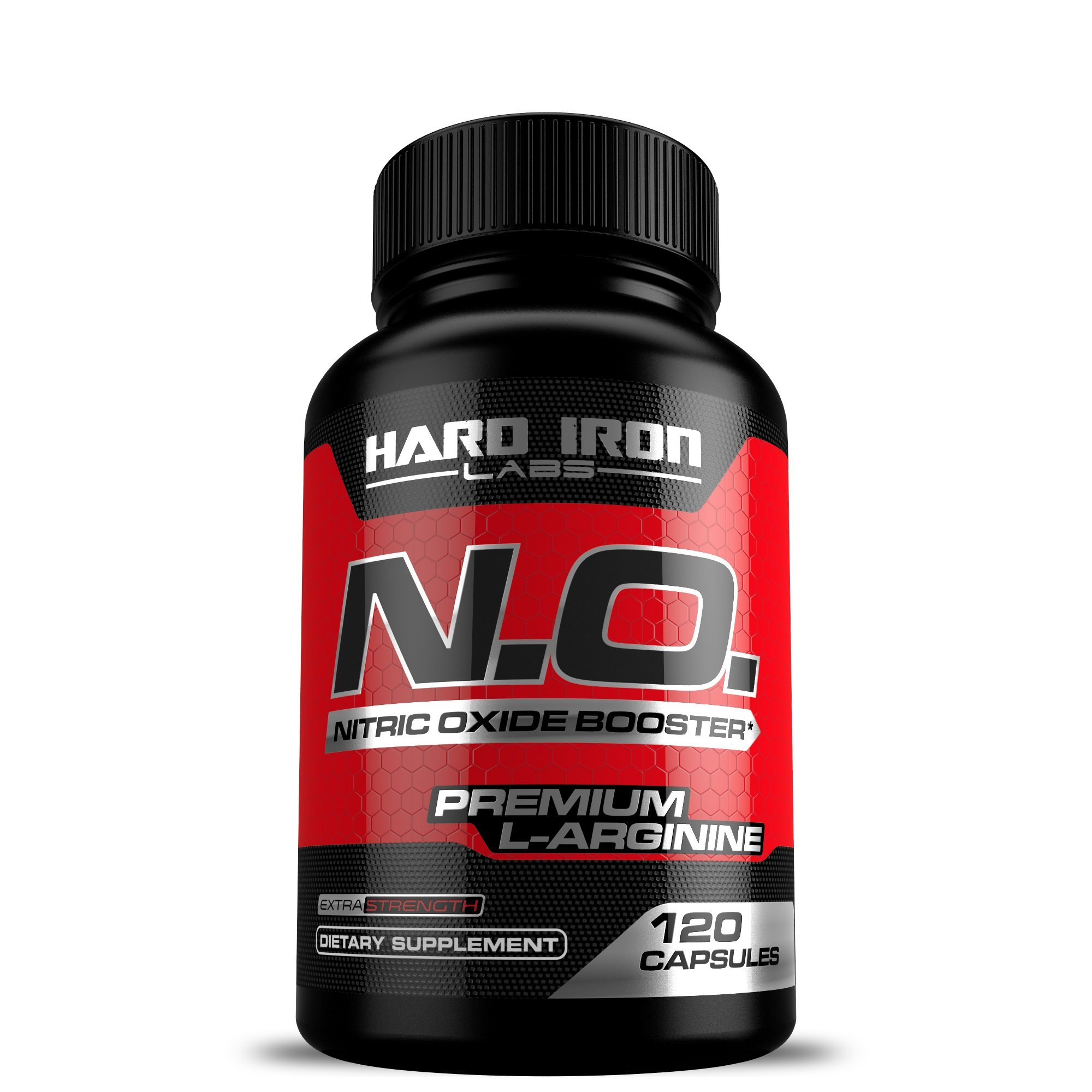 Nitric Oxide Supplement - Nitric Oxide Booster 1300mg - L Arginine & L Citrulline for Muscle Building, Vascularity, Pumps, Energy, Heart Health - Increase Blood Flow NO Booster Pre - 120 Capsules by Hard Iron Labs