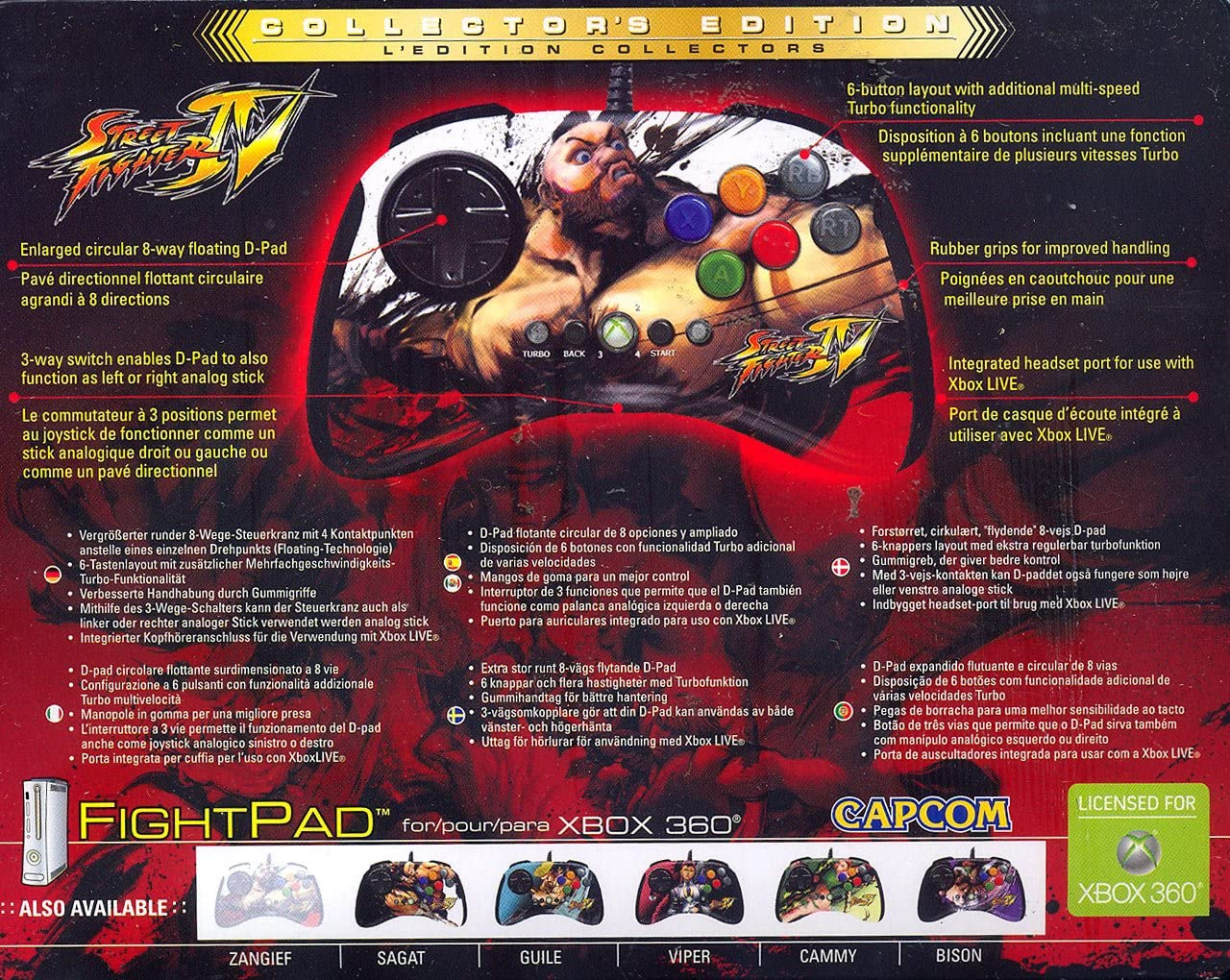 Amazon.com: Xbox 360 Street Fighter IV Round 2 FightPad - Bison: Video Games