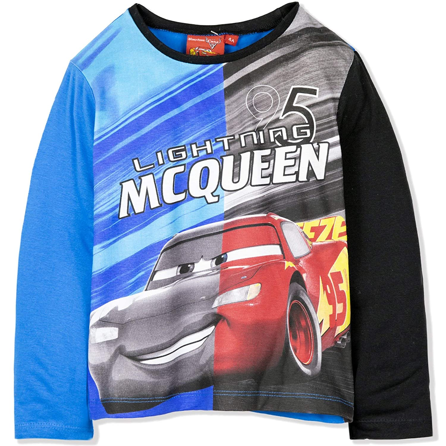 Pixar Cars Boys Long Sleeve 100/% Cotton Top T-Shirt with Characters Picture 2-8 Years Disney