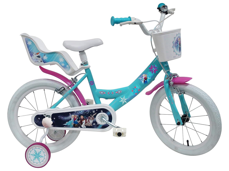Dino Bikes 146R-FZ Niñas Ciudad Azul, Púrpura, Color Blanco bicicletta - Bicicleta (Vertical, Ciudad, Azul, Púrpura, Blanco, 35,6 cm (14