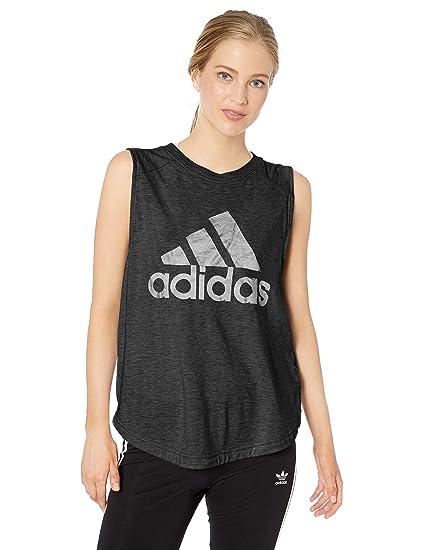 2b6d5eaba adidas Women's Id Winners Muscle Tee, Black/White, XX-Small