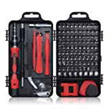 Gocheer Min Precision Screwdriver Set, 115 in 1 Magnetic Screwdriver Set with Case for iPhone, Computer, PC, Watch, Glasses, Electronics, Mini DIY Hand Work Repair Tools (Color: Red)