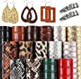 """SGHUO 15pcs Embossed Faux Leather Sheet 6.3"""" x 8.3"""" for Making Earrings Bow Wallet and DIY Sewing Craft"""