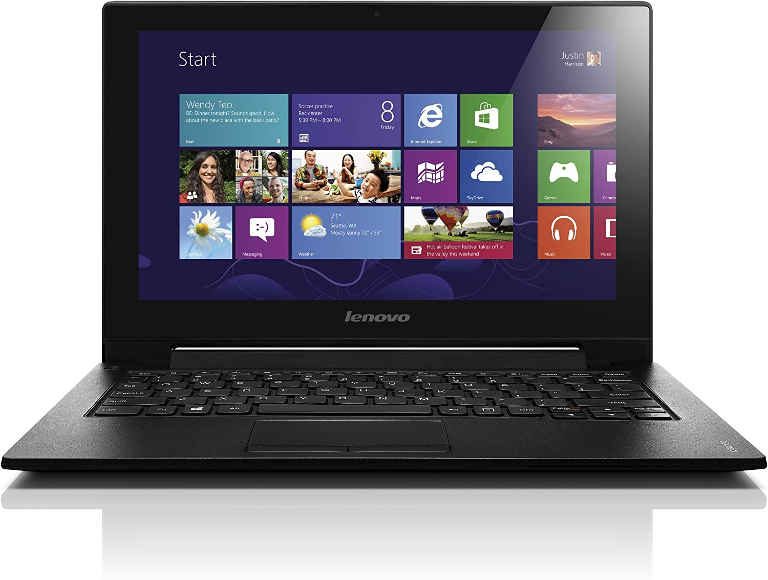 Lenovo IdeaPad S210 59387503 Touchscreen Laptop (Windows 8, Intel Pentium 2127U 1.9 GHz, 11.6
