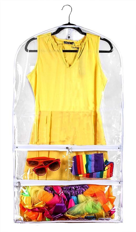 Amazon.com: Bolsa transparente para traje y vestido, para ...