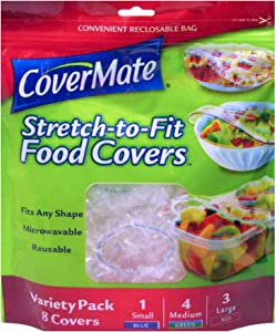 Covermate Stretch-to-fit Food Covers Convenient Reclosable Bags