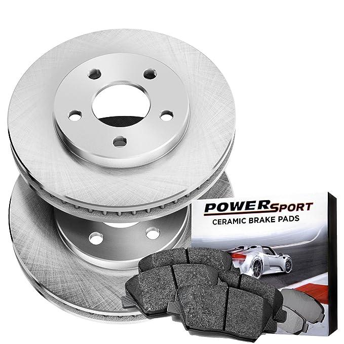 Power Sport Plain Replacement Brake Rotors and Ceramic Brake Pads Kit -81623 [REARS]