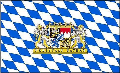 Flaggenking Estado Libre De Baviera con león Bandera, Bandera, Multi, 150 x 90 x 1 cm 16990: Amazon.es: Jardín
