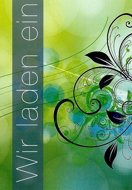 10 Tarjetas De Invitación Con Texto En El Interior Y Sobres