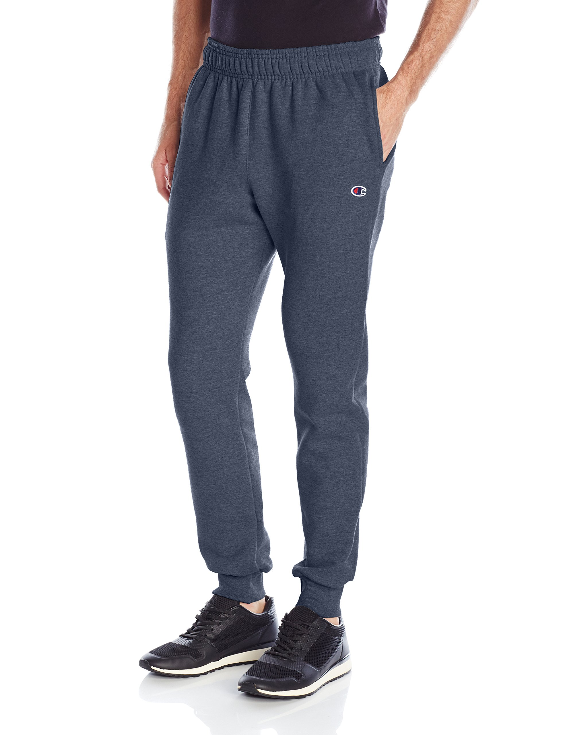 Champion Men's Powerblend Retro Fleece Jogger Pant, Navy Heather, X-Large by Champion