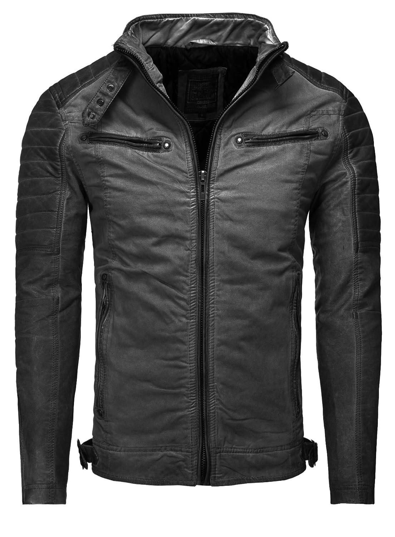 Jacket Clothing Carisma Men Vintage black Slim Fit Black S