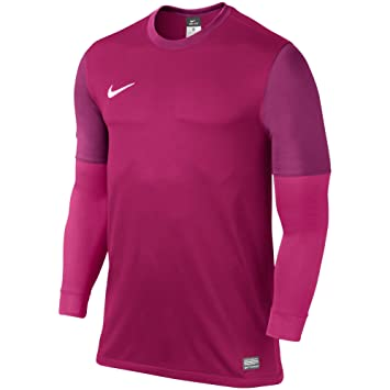 87f4c3461b8 Nike LS Club II Goalie Jersey M FIREBERRY/WHITE: Amazon.co.uk ...