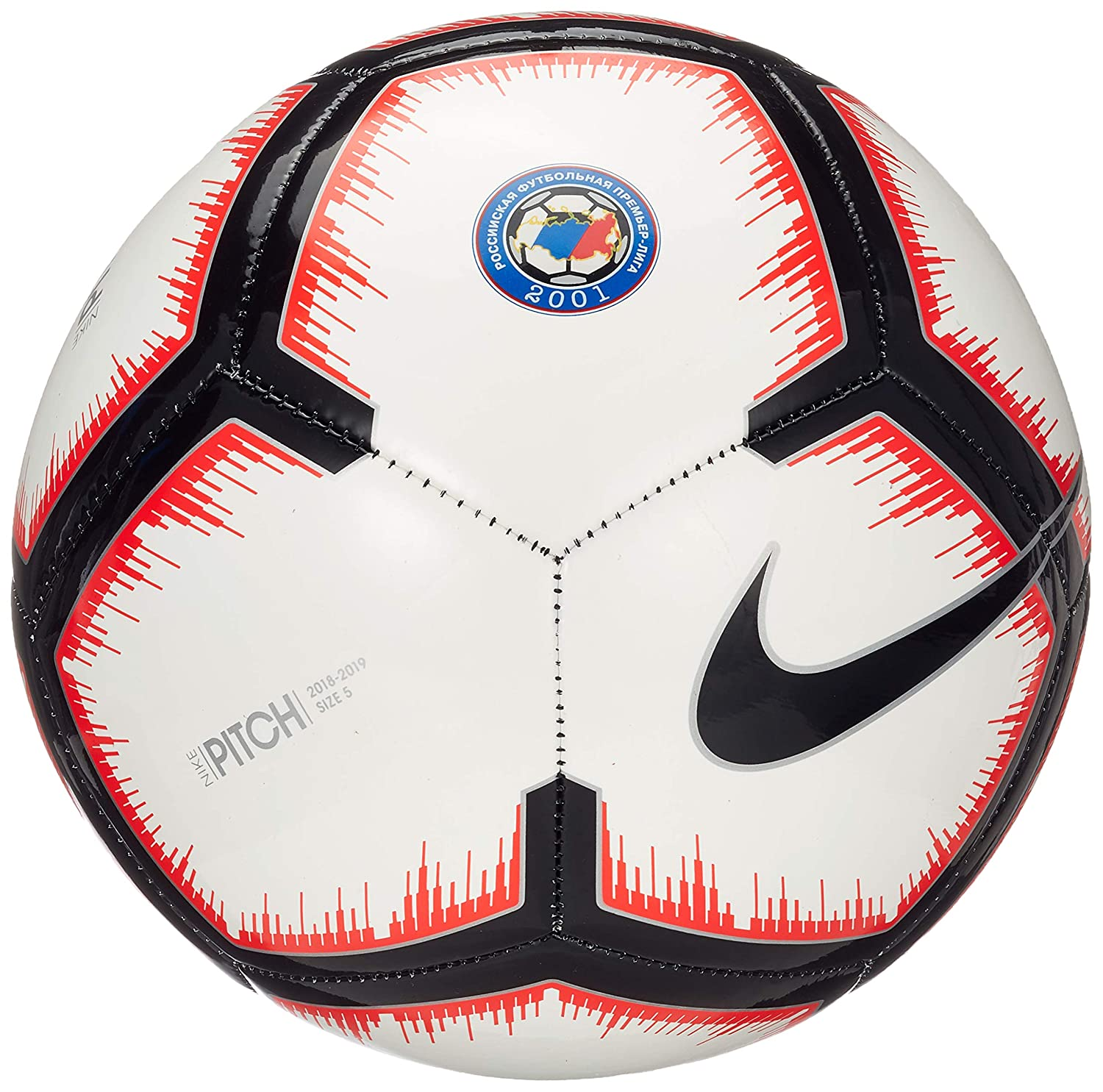 Nike Russian Premier League Pitch Fútbol, White/Bright Crimson ...